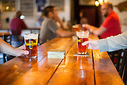 Guests talk and drink beer at Bentonville Brewing Company on Friday, February 19, 2016, in Bentonville, Arkansas. Beth Hall for the New York Times