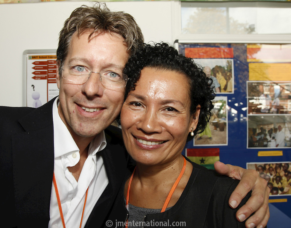 John Marshall and Colleen Hue. The BRIT School Industry Day, Croydon, London..Thursday, Sept.22, 2011 (John Marshall JME)
