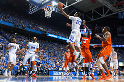 Kentucky guard Jamal Murray drives to the basket and scores two of his 35 points. Kentucky won 80-61.<br /> <br /> The University of Kentucky hosted the University of Florida, Saturday, Feb. 06, 2016 at Rupp Arena in Lexington .