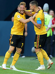 July 14, 2018 - St. Petersburg, Russia - July 14, 2018, St. Petersburg, FIFA World Cup 2018, Football match for the third place in the World Cup. Football match of Belgium - England at the stadium of St. Petersburg. Player of the national team   (14), Eden Azar  (Credit Image: © Russian Look via ZUMA Wire)