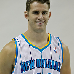 Sep 27, 2010; New Orleans, LA, USA; New Orleans Hornets center Jason Smith poses during media day at the New Orleans Arena. Mandatory Credit: Derick E. Hingle