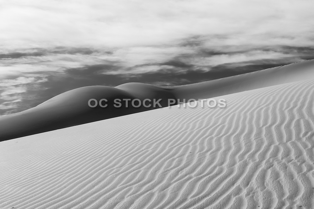 Black and White Photo of Eureka Valley Sand Dunes at Death Valley National Park