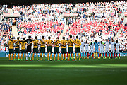 One minute silence during the FIFA World Cup Qualifier group stage match between England and Lithuania at Wembley Stadium, London, England on 26 March 2017. Photo by Matthew Redman.