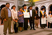 PERU, TRUJILLO, EDUCATION University students at graduation