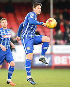 Notts County goalscorer Filip Valenčič during the Sky Bet League 2 match between Crawley Town and Notts County at the Checkatrade.com Stadium, Crawley, England on 16 January 2016. Photo by David Charbit.