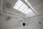 "Giardini, Palazzo delle Esposizioni. International exhibition ""Fare Mondi // Making Worlds // Bantin Duniyan // ???? // Weltenmachen // Construire des Mondes // Fazer Mundos..."" curated by Daniel Birnbaum..Tomas Saraceno, ""Galaxies Forming along Filaments, like Droplets along the Strands of a Spider's Web"", 2009"