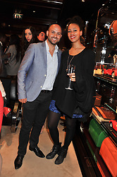 AV BABAR and NATHALIE WOOD at a shopping evening hosted by Kola Karim to celebrate the sport of polo with leading polo player Nacho Figueras at Ralph Lauren, 1 New Bond Street, London on 16th May 2013.