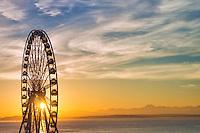 Great Wheel & Elliott Bay @ Sunset
