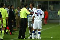Firenze 27-08-2005<br />Campionato  Serie A Tim 2005-2006<br />Fiorentina Sampdoria<br />nella  foto contestazione di Diana<br />Foto Snapshot / Graffiti