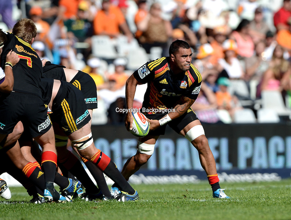 Liam Messam (VC)from the Chiefs during the Super Rugby match between the Toyota Cheetahs and the Chiefs at the Free State Stadium on  5 April 2014 ©Gerhard Steenkamp/BackpagePix