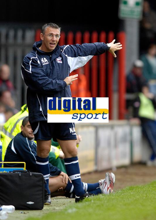 Photo: Jed Wee/Sportsbeat Images.<br /> Scunthorpe United v Sunderland. Pre Season Friendly. 21/07/2007.<br /> <br /> Scunthorpe manager Nigel Adkins.