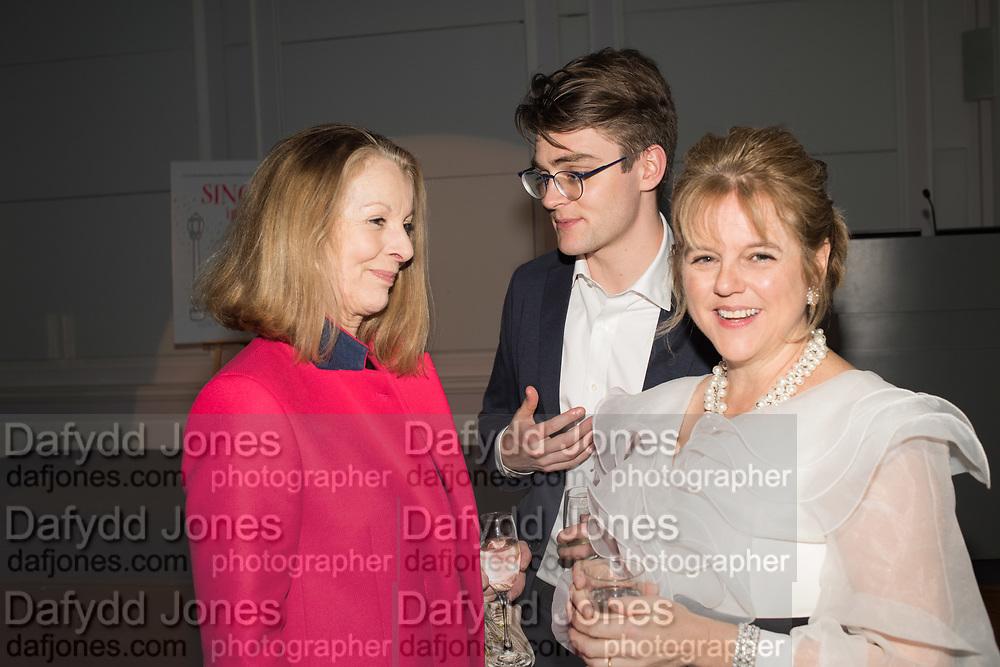 EDWARD GRIGG, RACHEL KELLY, Rachel Kelly celebrates the publication of ' Singing In the Rain' An Inspirational Workbook. 20 Cavendish Sq. London W1. 17 January 2019.