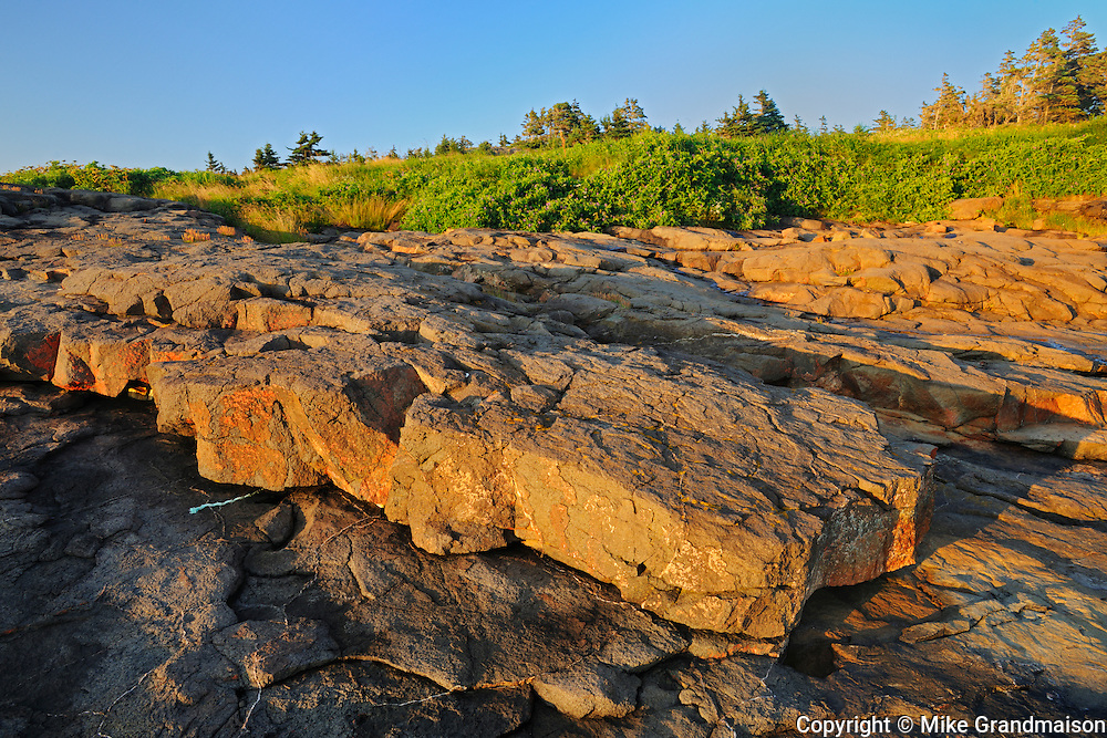 Sunset along the Bay of Fundy at Flower Cove<br /> Long Island on the Digby Neck<br /> Nova Scotia<br /> Canada