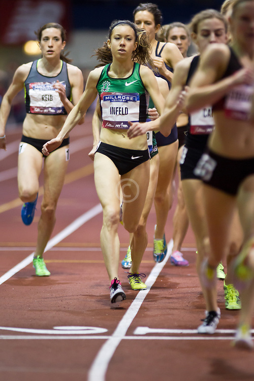 Millrose Games indoor track and field: women's mile, Infeld