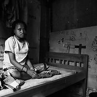 A girl in an AIDS shelter in Wamena
