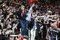 Supporters GUINGAMP - 14.12.2014 - Guingamp / Paris Saint Germain - 18eme journee de Ligue 1<br />Photo : Vincent Michel / Icon Sport