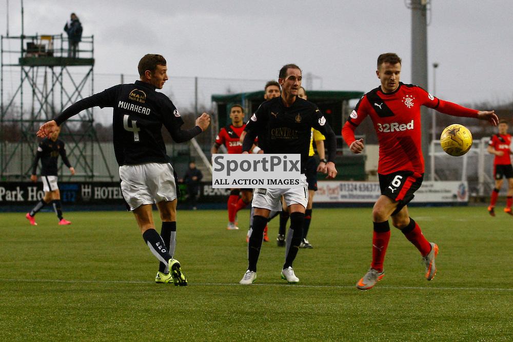 Aaron Muirhead, Mark Kerr and Andy Halliday.<br />Falkirk v Rangers Falkirk Stadium 19 December 2015<br /><br />(c) Russell G Sneddon / SportPix.org.uk