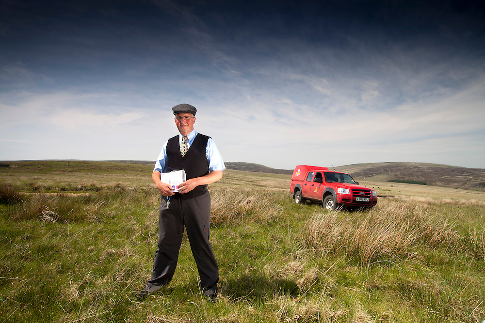 June 2013 Hebden Bridge - Postman Andrew on Widdop Road and at the end of Edge Lane Colden