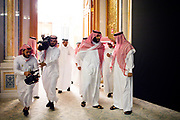 ****ATTN DAVID FURST****FOR STORY BY TASNEEM ALSULTAN ON NEOM 10/24/2017 Riyadh, Saudi Arabia<br /> <br /> Arrival of the Crown Prince Muhammed Bin Salman, at the event at the Future Investment Initiative, with his entourage.