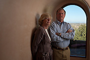 Former Merrill Lynch executive James A. Brown and his wife Nancy pose in the hallway of their Santa Fe New Mexico home on October 15, 2010...Credit: Steven St. John for The Wall Street Journal.ENRON