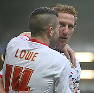 Picture by David Horn/Focus Images Ltd +44 7545 970036.26/12/2012.Ryan Lowe of Milton Keynes Dons celebrates scoring the opening goal with team mate Dean Lewington (Captain) during the npower League 1 match at stadium:mk, Milton Keynes.