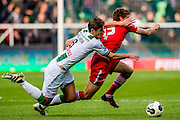 GRONINGEN - 23-10-2016, FC Groningen - AZ, Noordlease Stadion, 0-2,  FC Groningen speler Etienne Reijnen, AZ speler Guus Til