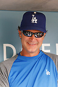 LOS ANGELES, CA - JULY 18:  Don Mattingly #8 manager of the Los Angeles Dodgers smiles while chatting with the media before the game against the Philadelphia Phillies on Wednesday, July 18, 2012 at Dodger Stadium in Los Angeles, California. The Dodgers won the game 5-3 in 12 innings. (Photo by Paul Spinelli/MLB Photos via Getty Images) *** Local Caption *** Don Mattingly