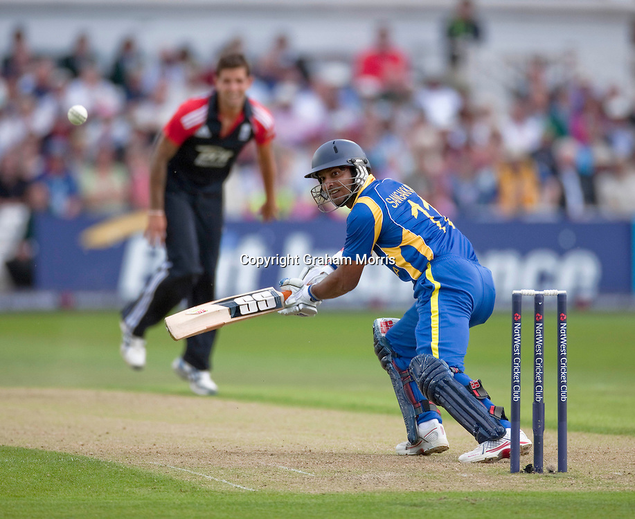 Kumar Sangakkara bats during the fourth one day international between England and Sri Lanka at Trent Bridge, Nottingham. Photo: Graham Morris (Tel: +44(0)20 8969 4192 Email: sales@cricketpix.com) 06/07/11
