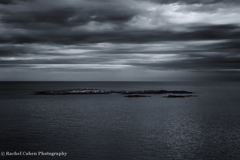&quot;Rain on My Parade&quot;<br /> <br /> A black and white photograph of dark rain clouds over Lake Superior