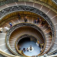 Escalera del museo del Vaticano. Museo del Vaticano. Roma, Italia. Vatican Museum. Rome, Italy