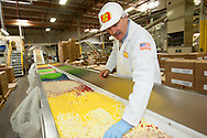 Bob Simpson, President and COO of Jelly Belly on the factory floor in Fairfield, Calif..