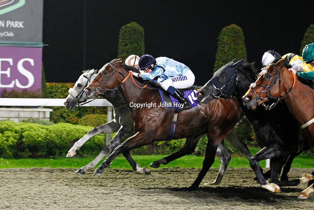 Numeral and Ryan Moore winning the 8.50 race