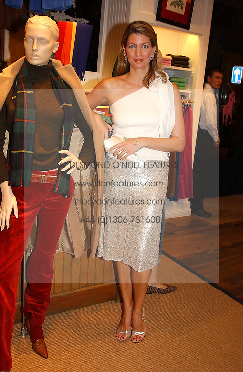 COSIMA PAVONCELLI she was Cosima von Bulow at Polo Ralph Lauren's Pink Pony Party to launch it's Pink Pony Collection in aid of Cancer Research UK, held at their Fulham Road Store, London on 13th October 2004.<br /><br /> UKNON EXCLUSIVE - WORLD RIGHTS