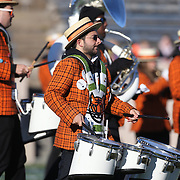 The Princeton University Band perform during the Yale Vs Princeton, Ivy League College Football match at Yale Bowl, New Haven, Connecticut, USA. 15th November 2014. Photo Tim Clayton