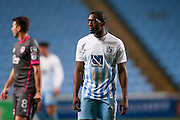 Coventry City forward Marvin Sordell (17)  during the The FA Cup match between Coventry City and Morecambe at the Ricoh Arena, Coventry, England on 15 November 2016. Photo by Simon Davies.