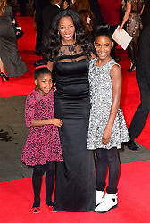 Jamelia attends The Royal Film Performance of Mandela Loing Walk To Freedom Film Premiere at Odeon Leicester Square, London, United Kingdom. Thursday, 5th December 2013. Picture by Nils Jorgensen / i-Images