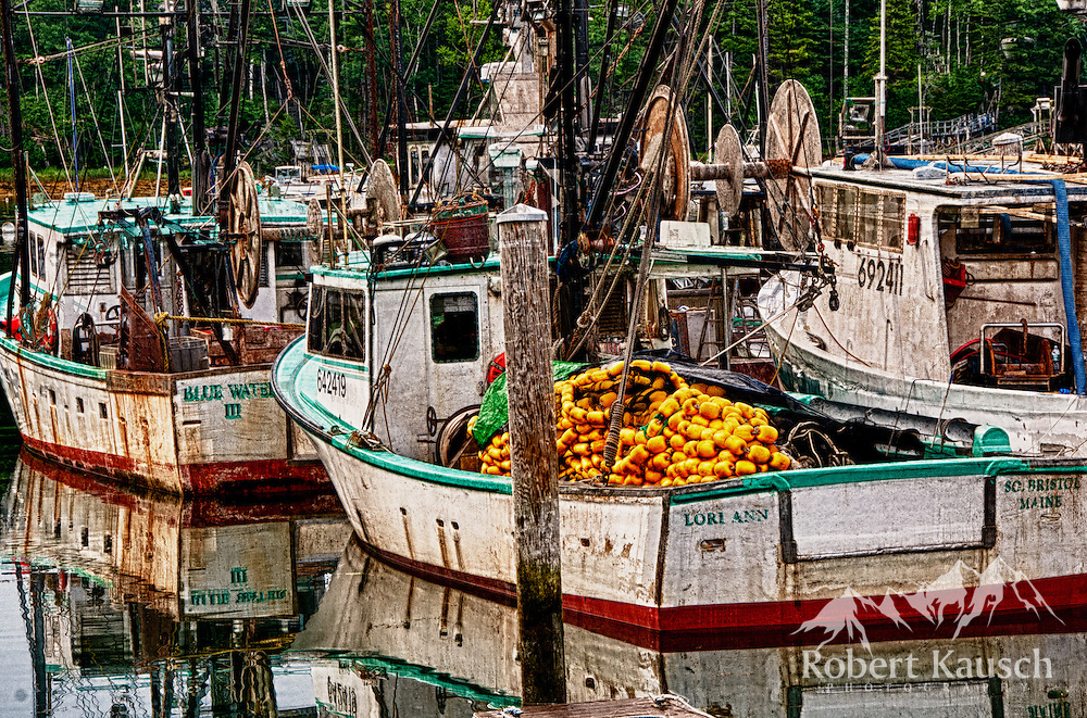 fishing boats at Osier's Wharf