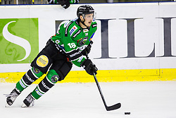 17.02.2015, Hala Tivoli, Ljubljana, SLO, EBEL, HDD Telemach Olimpija Ljubljana vs EC KAC, 4. Qualification Round, in picture Rok Leber (HDD Telemach Olimpija, #18) during the Erste Bank Icehockey League 4. Qualification Round between HDD Telemach Olimpija Ljubljana and EC KAC at the Hala Tivoli, Ljubljana, Slovenia on 2015/02/17. Photo by Morgan Kristan / Sportida