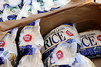 Supplied by the Food Bank of Monterey County, basic foodstuffs like rice and beans supplement family diets in Salinas from October to May, the winter months when unemployment is highest.