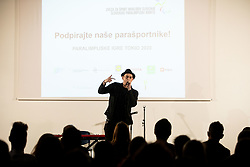 Rapper Trkaj singing during Slovenian Disabled Sports personality of the year 2019 event, on January 21, 2020 in Austria Trend Hotel, Ljubljana, Slovenia. Photo by Vid Ponikvar / Sportida