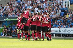 ipswich celebrate Tabbs goal - Photo mandatory by-line: Nigel Pitts-Drake/JMP - Tel: Mobile: 07966 386802 03/08/2013 - SPORT - FOOTBALL -  Madejski Stadium - Reading -  Reading v Ipswich Town - Sky Bet Championship