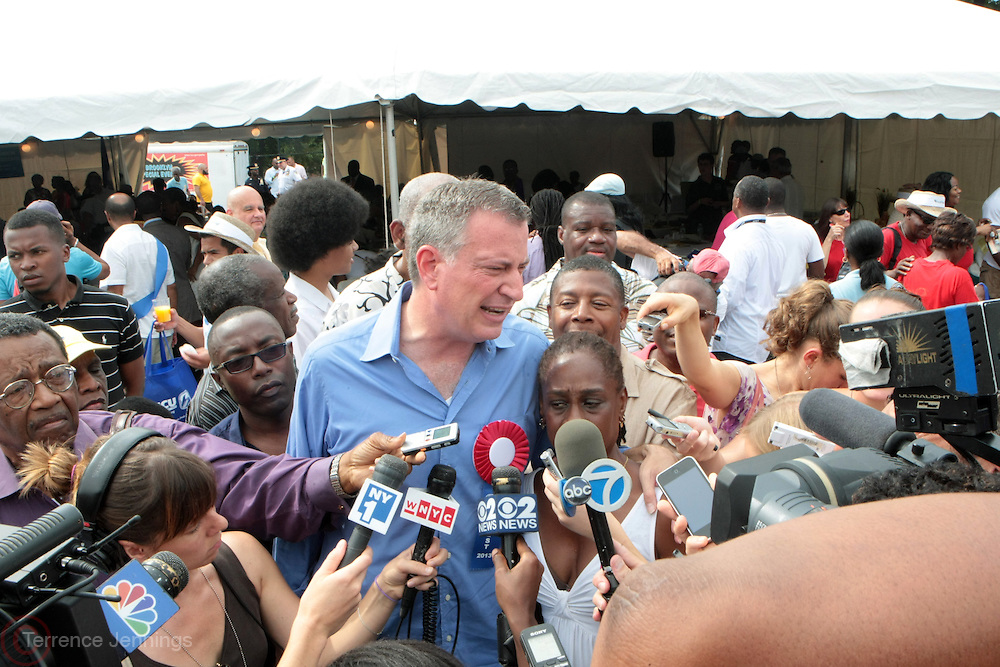 2 September 2013- Brooklyn, NY: New York City Public Advocate Bill de Blasio and New York City Mayoral Candidate attends the 46th Annual West Indian Day Parade held along Eastern Parkway held on September 2, 2013 in Brooklyn, NY  ©Terrence Jennings