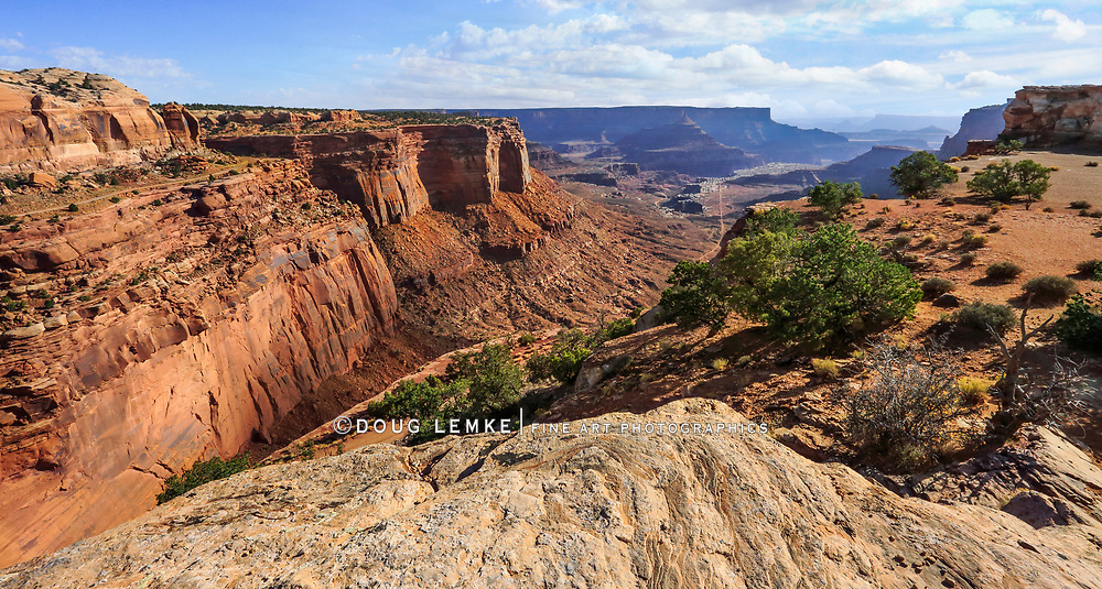 Some of the very interesting geology at Canyonlands National Park, Seen from the Shafer Canyon Overlook, Utah USA
