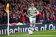 Celtic midfielder Stuart Armstrong (#14) takes a corner during the Scottish Cup final match between Aberdeen and Celtic at Hampden Park, Glasgow, United Kingdom on 27 November 2016. Photo by Craig Doyle.