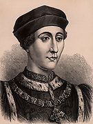 Henry VI (1421-71) king of England from 1422, only child of Henry V and Catherine of Valois. Last Plantagenet king of England his throne was usurped by Edward IV in 1461. Henry was murdered 21 May 1471. Wood engraving c1900.