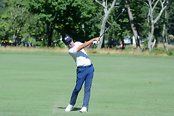 July 8, 2018 - White Sulphur Springs, WV, U.S. - WHITE SULPHUR SPRINGS, WV - JULY 08: Kevin Na hits his approach shot on the 13th hole during the final round of the Military Tribute at the Greenbrier in White Sulphur Springs, WV, on July 8, 2018. (Photo by Brian Bishop/Icon Sportswire) (Credit Image: © Brian Bishop/Icon SMI via ZUMA Press)
