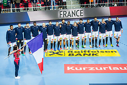Team France during handball match between National teams of France and Norway on Day 1 in Preliminary Round of Men's EHF EURO 2018, on January 12, 2018 in Arena Zatika, Porec, Croatia. Photo by Ziga Zupan / Sportida