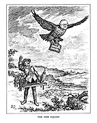 The New Falcon. (Sir Howard Kingsley Wood as the new Air Minister flies off with his despatch box from falconer Neville Chamberlain)