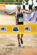 NELSPRUIT, SOUTH AFRICA - NOVEMBER 04: Elroy Gelant of Athletics Central North West wins the title during the ASA 10km Championships on Saturday November 04, 2017 in Nelspruit, South Africa. <br /> (Photo by Roger Sedres/ImageSA/Gallo Images)