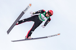 13.01.2019, Stadio del Salto, Predazzo, ITA, FIS Weltcup Nordische Kombination, Skisprung, im Bild Francois Braud (FRA) // Francois Braud of France during Skijumping Competition of FIS Nordic Combined World Cup at the Stadio del Salto in Predazzo, Italy on 2019/01/13. EXPA Pictures © 2019, PhotoCredit: EXPA/ JFK